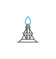 oil derrick linear icon concept oil derrick line vector image