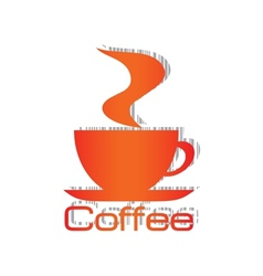 Orange cup bar code vector