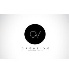 ov o v logo design with black and white creative vector image