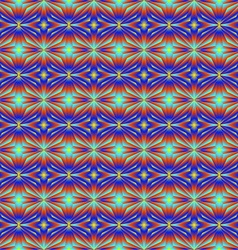Pattern tiles in bright colors of the stars vector image
