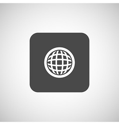 Planet icon network map earth business concept vector image
