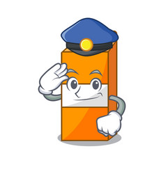 Police package juice character cartoon vector