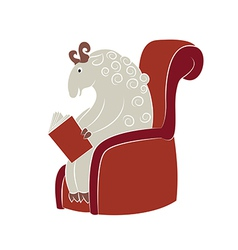 Reading sheep vector