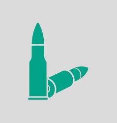 Rifle ammo icon vector