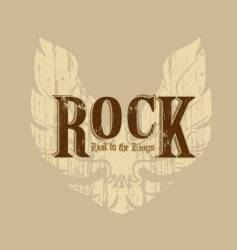 rock with wings vector image