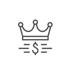 Royalty program line outline icon vector