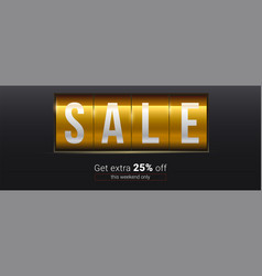 sale get extra 25 percent off text about vector image