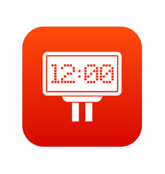 scoreboard icon digital red vector image