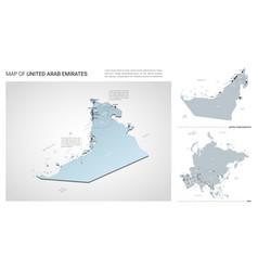 Set united arab emirates country isometric 3d vector