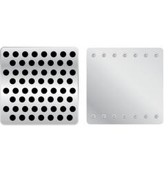 silver plates set a vector image