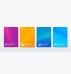 simple modern covers template design set of vector image
