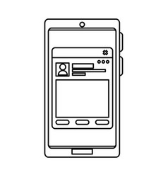 Smartphone with webpage template vector