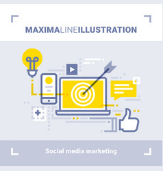 Social media marketing and social networks vector