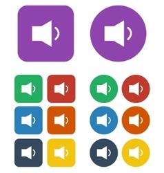 Speaker low volume sign icon vector image