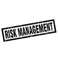 Square grunge black risk management stamp vector