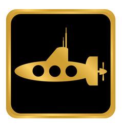 submarine icon on white vector image