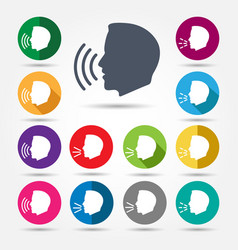 talk or speak icons vector image
