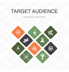 Target audience infographic 10 option color design vector