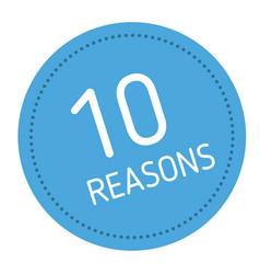 Ten reasons advertising sticker vector