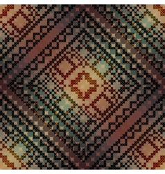 The cross-stitch pattern on diagonal gradient vector