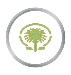 The Palm Jumeirah icon in cartoon style isolated vector image