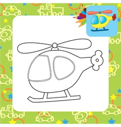 Toy helicopter for coloring vector image