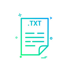 Txt application download file files format icon vector