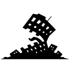 urbanization monster symbol vector image