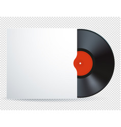vinyl record disk with red label vector image