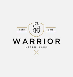 warrior logo design template vector image