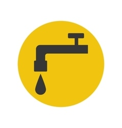 Water tap silhouette icon vector image