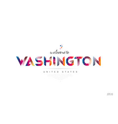 Welcome to washington dc usa united states card vector