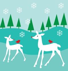 White deer vector
