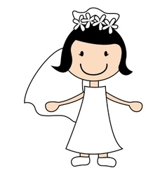 wife character married just vector image