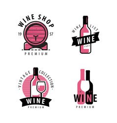 Wine symbol or label winery restaurant drink vector