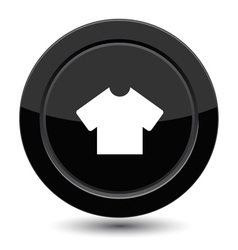 Button with T-shirt vector image vector image