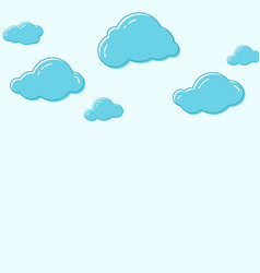 cloud icons vector image vector image