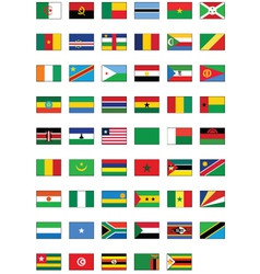 flag set of all african countries vector image vector image