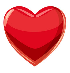 heart suit plying card icon cartoon style vector image