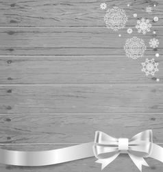 Christmas background with gift bows and ribbons vector image