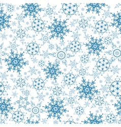 Festive seamless pattern with blue snowflakes vector image vector image