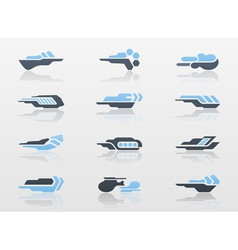 Futuristic arrows - logo templates vector image