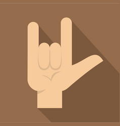 rock gesture icon flat style vector image