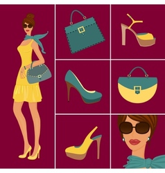 fashion items vector image vector image