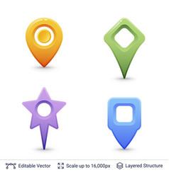 location pins set vector image vector image