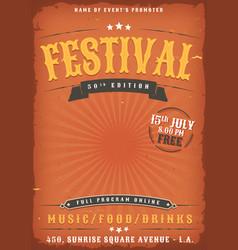 Music festival grunge poster vector