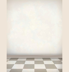 Empty Room White Wall Tile Floor vector image