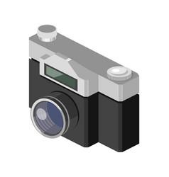 photo camera isometric vector image
