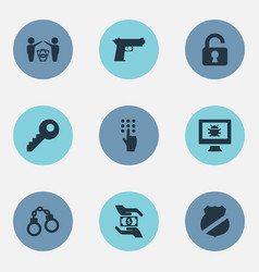 set of simple protection icons vector image vector image