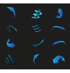 3D Arrow vector image